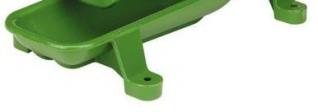 Pumpenbecken grün lackiert